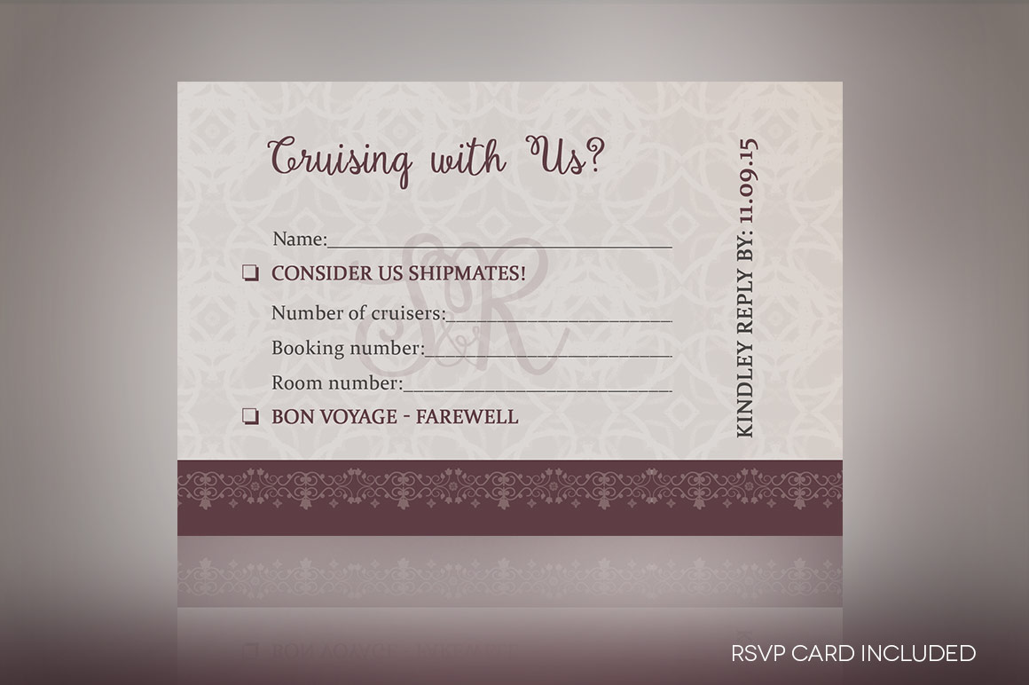 Vintage Boarding Pass Invitation Template example image 2