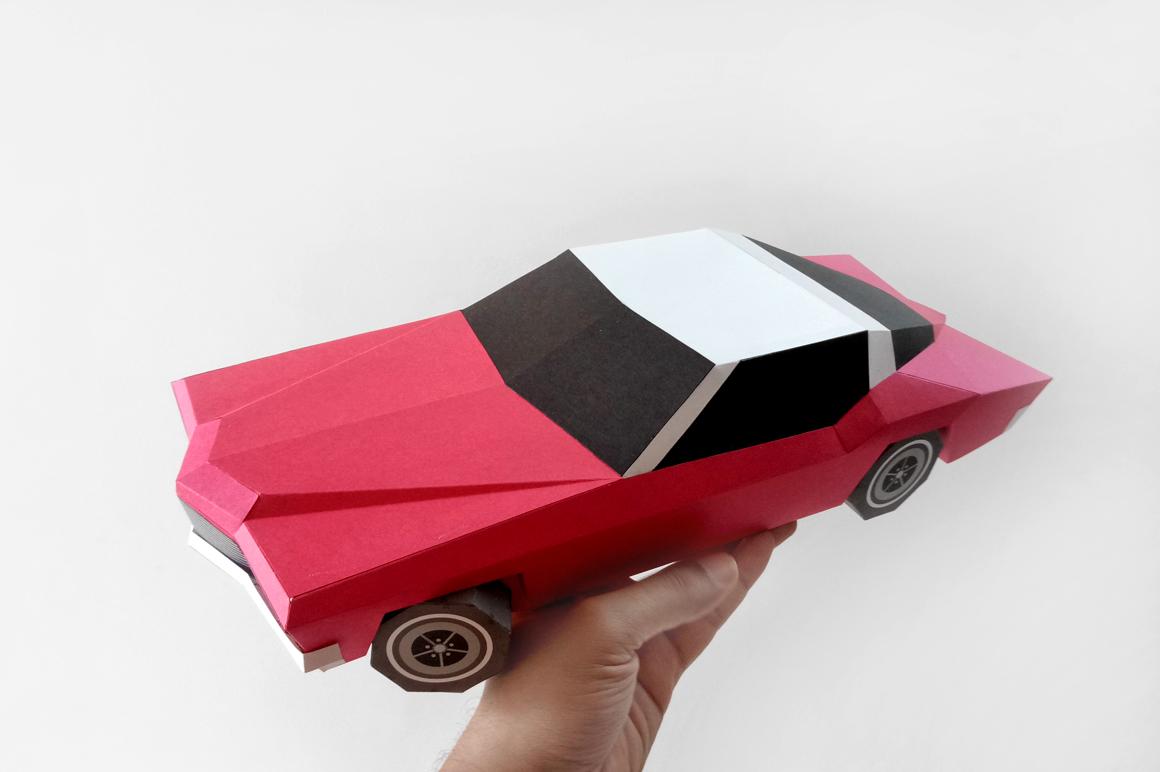 DIY Classic Car - 3d papercraft example image 5