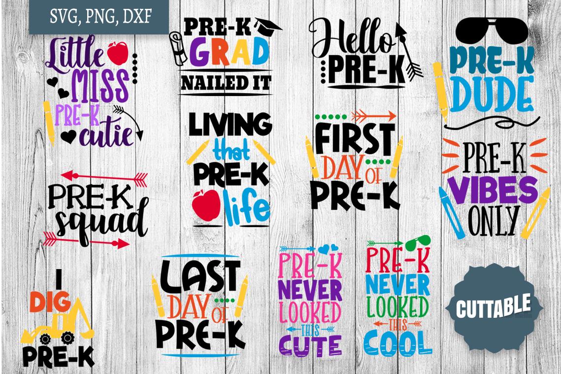 Pre-K cut file quotes, pre-k bundle, Prek SVGs example image 1