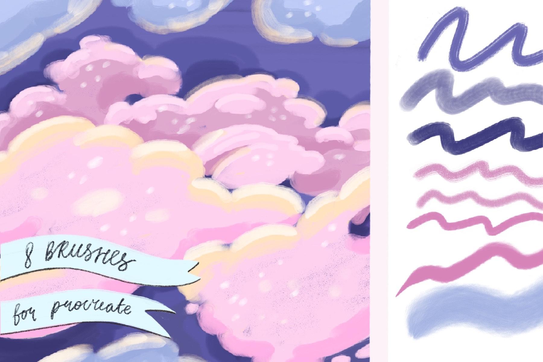 Brushes procreate. Texture paints example image 3