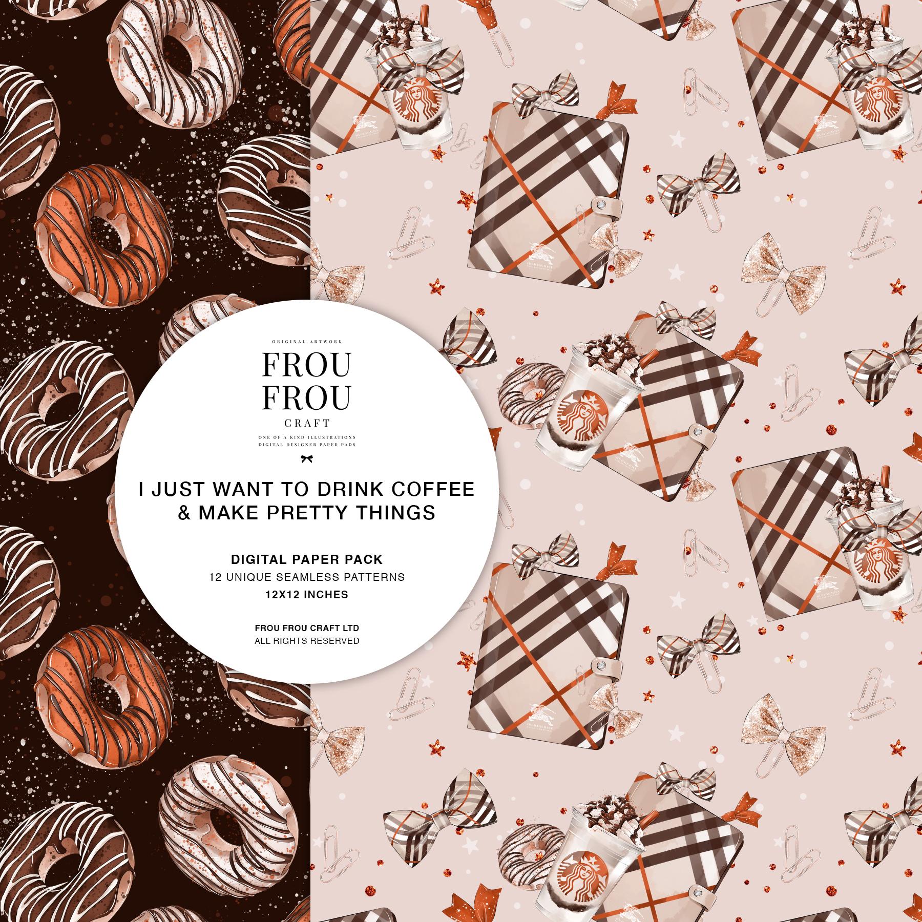Coffee Lover Milkshake Donut Fall Autumn Paper Pack example image 3