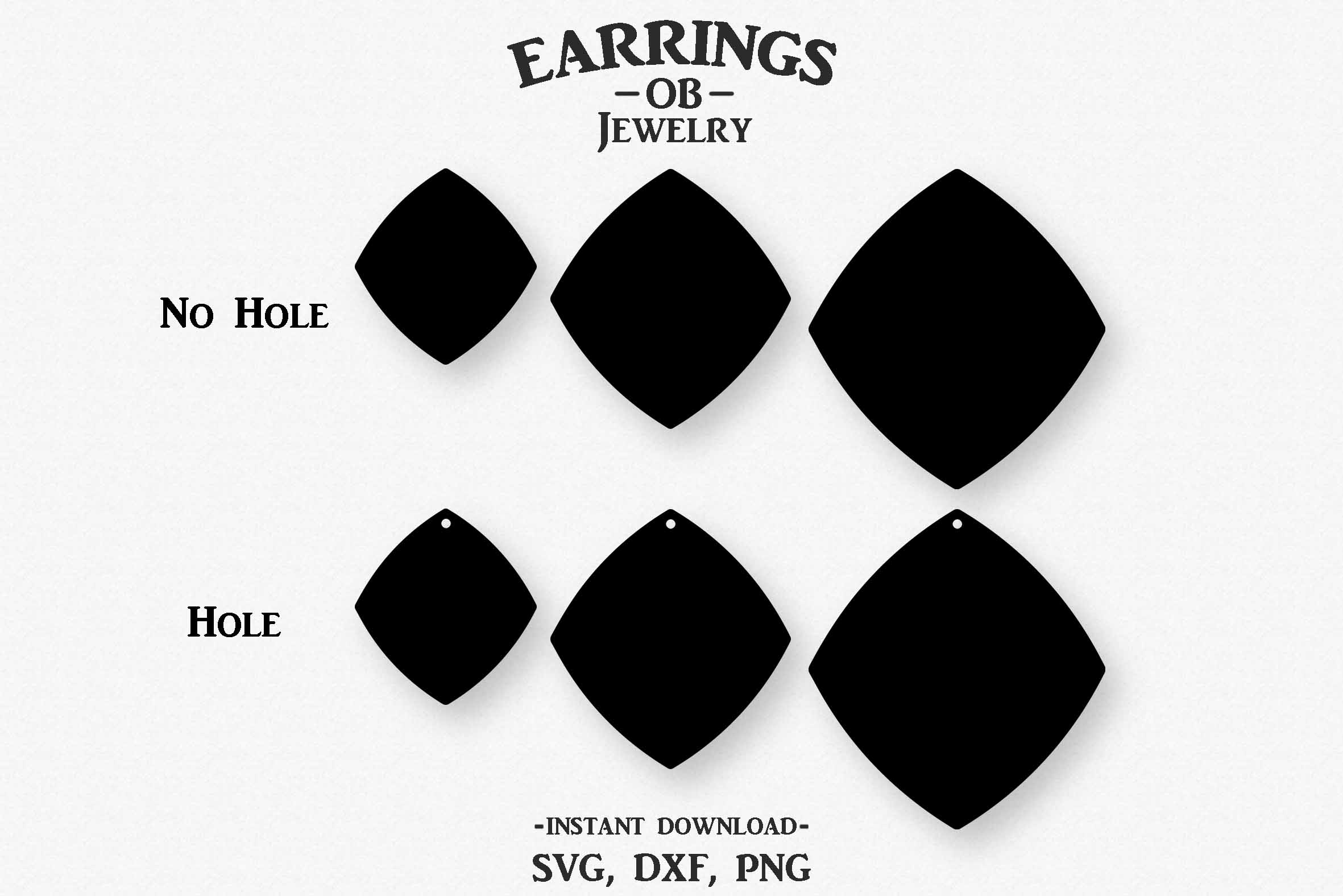 Earring Svg, Stacked, Cut File example image 2