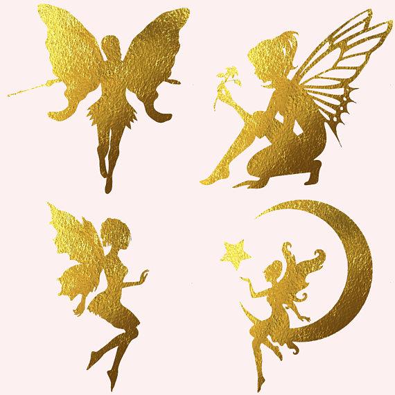 Fairy gold. Foil fairies clipart