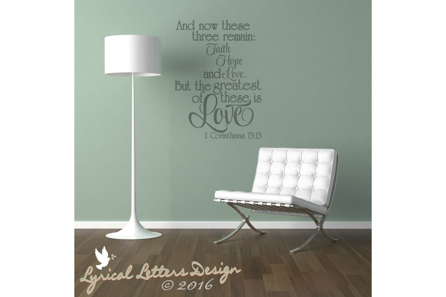 The Greatest of These is Love 1 Corinthians 13 SVG DXF LL022 example image 2
