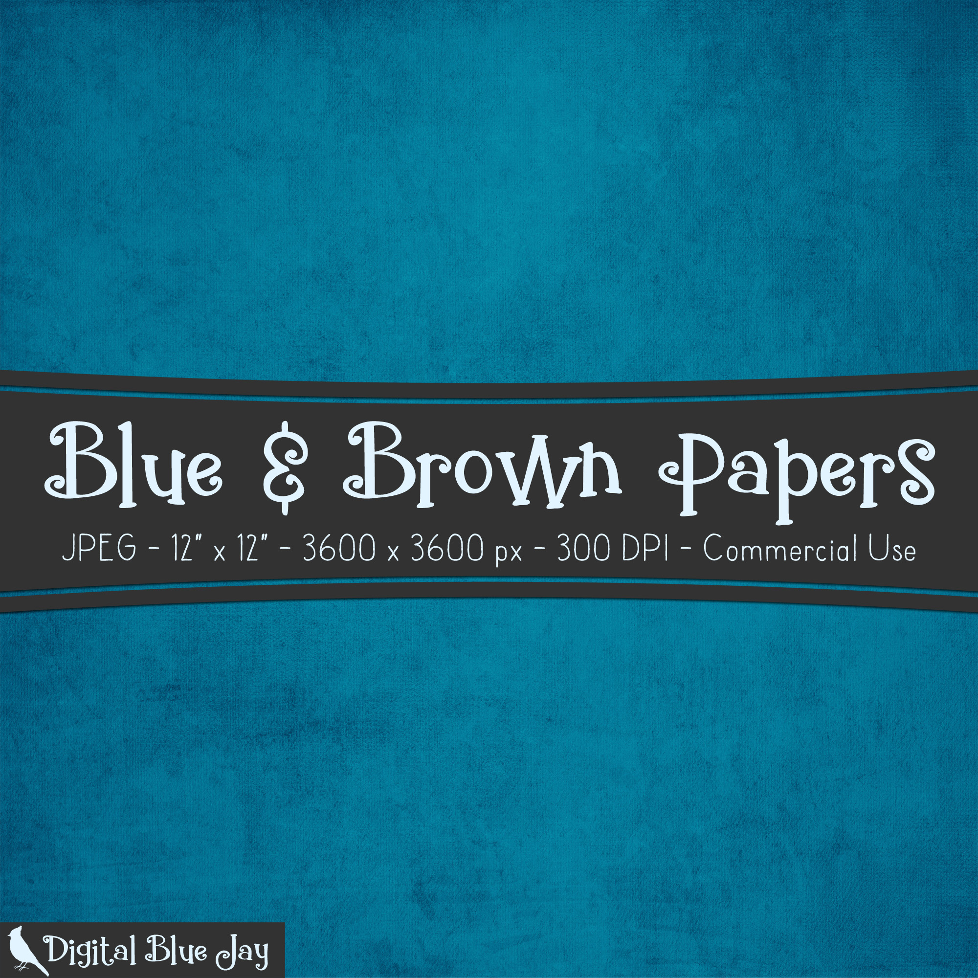 Digital Paper Textured Backgrounds - Blues & Browns example image 2