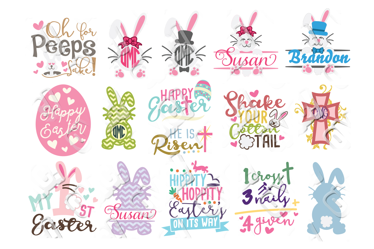 Easter SVG Cut Files Bundles