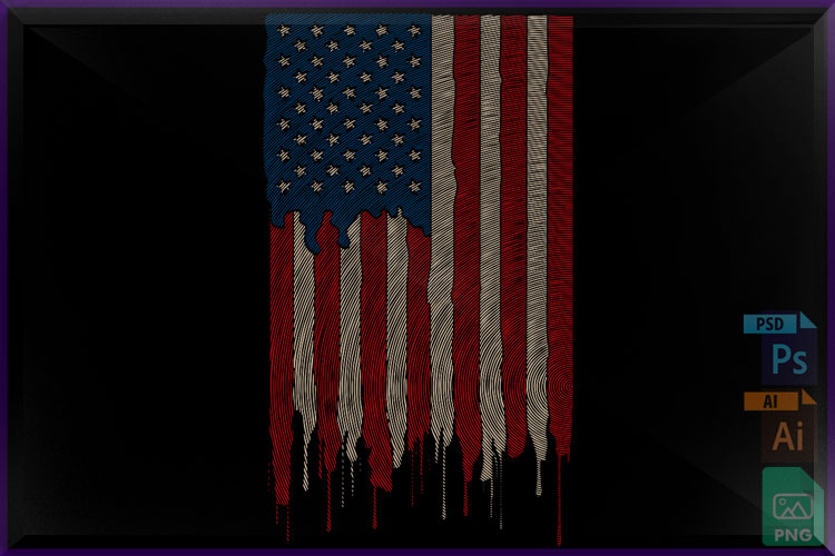 AMERICAN FLAG Finger example image 1