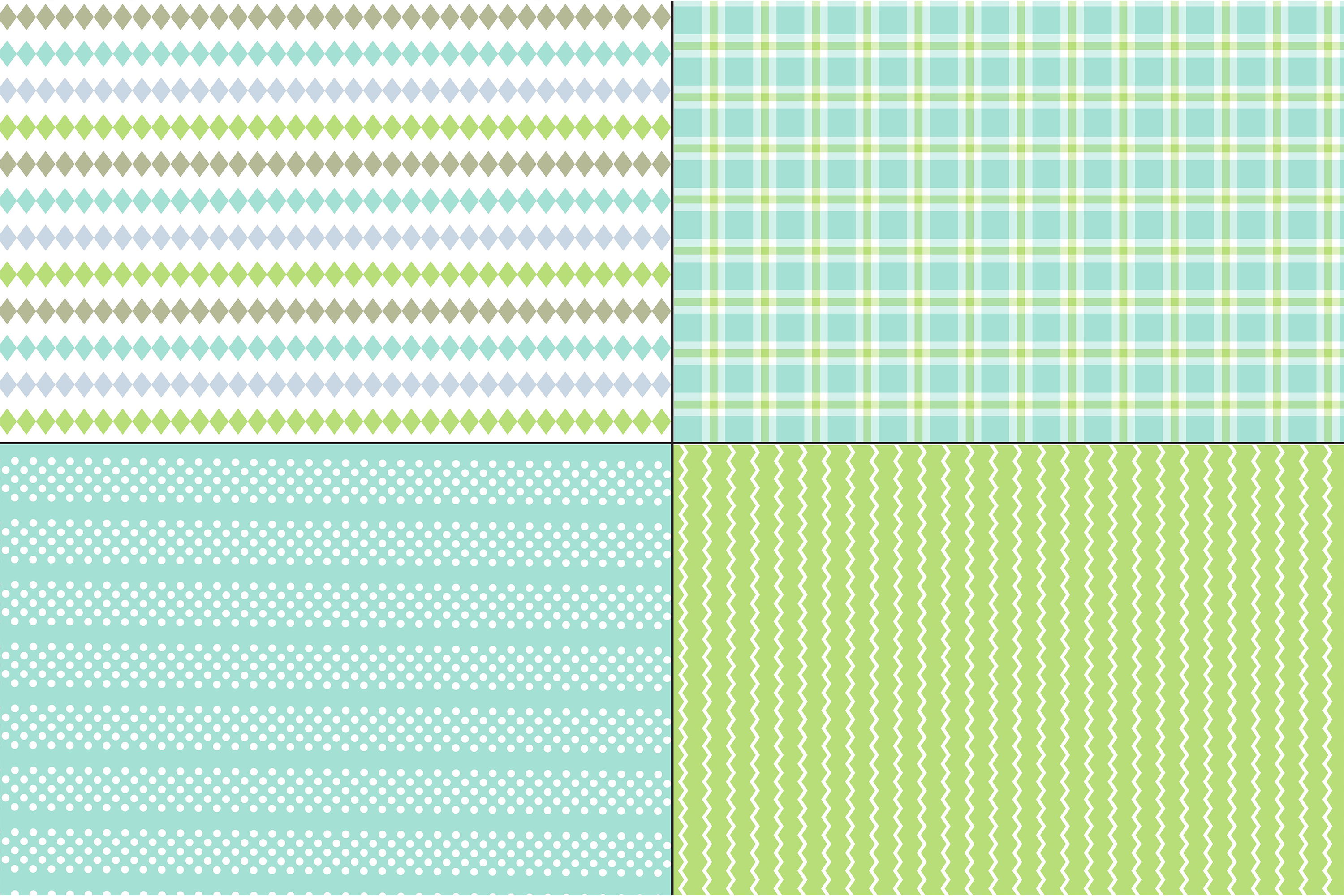 Blue Green Stripes & Plaids example image 3