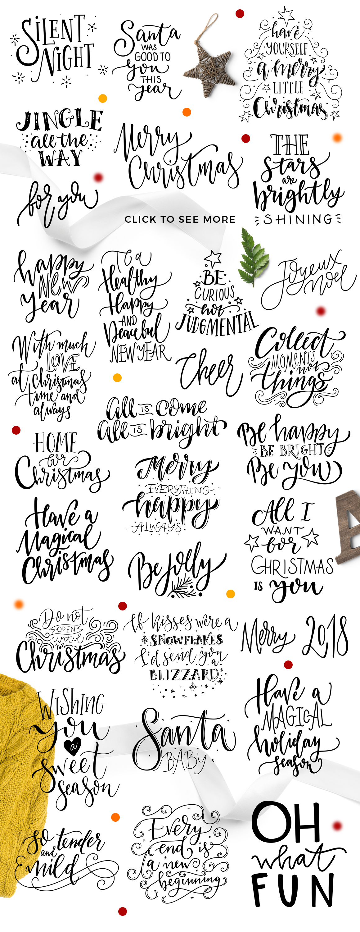 Winter Greetings Lettering Pack example image 6