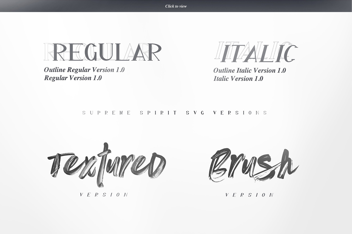 Supreme Spirit Fonts and SVG example image 25