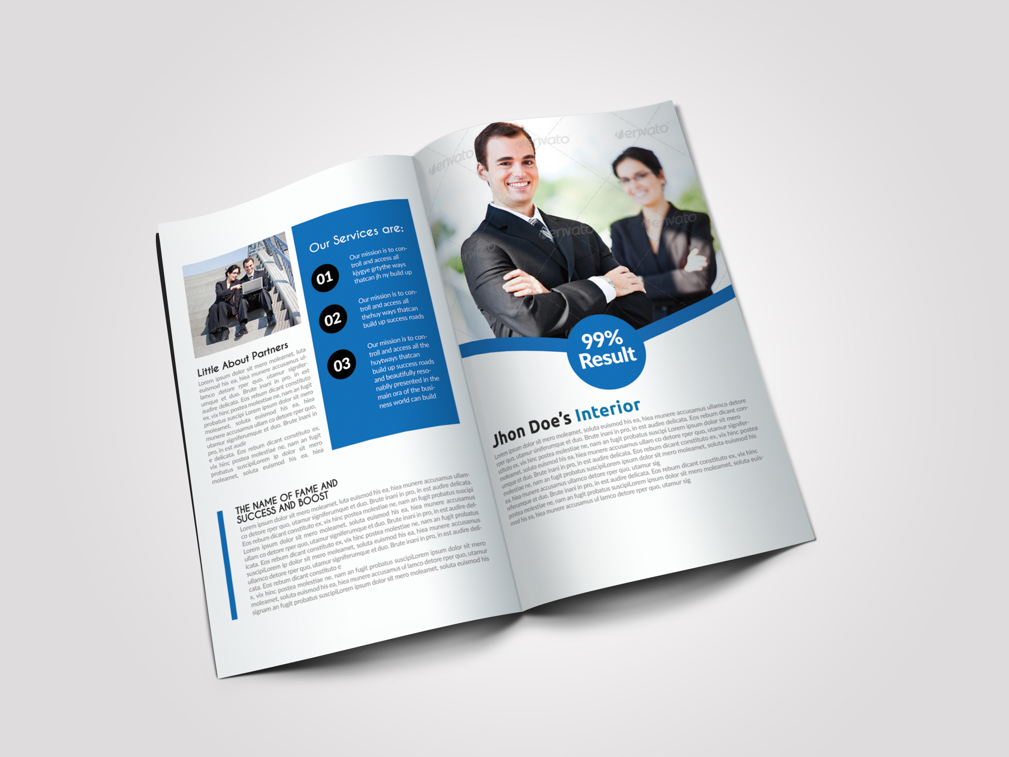 Business Dealing Bifold Brochure example image 4