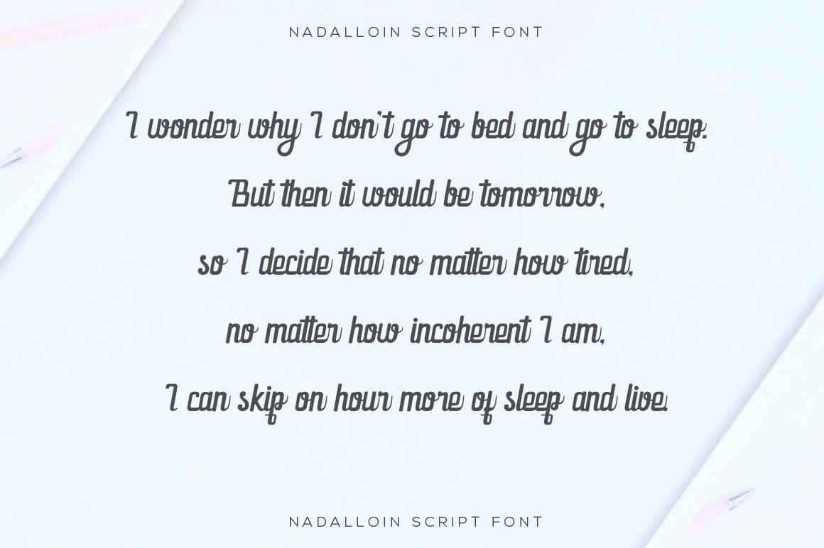 Nadalloin font example image 2