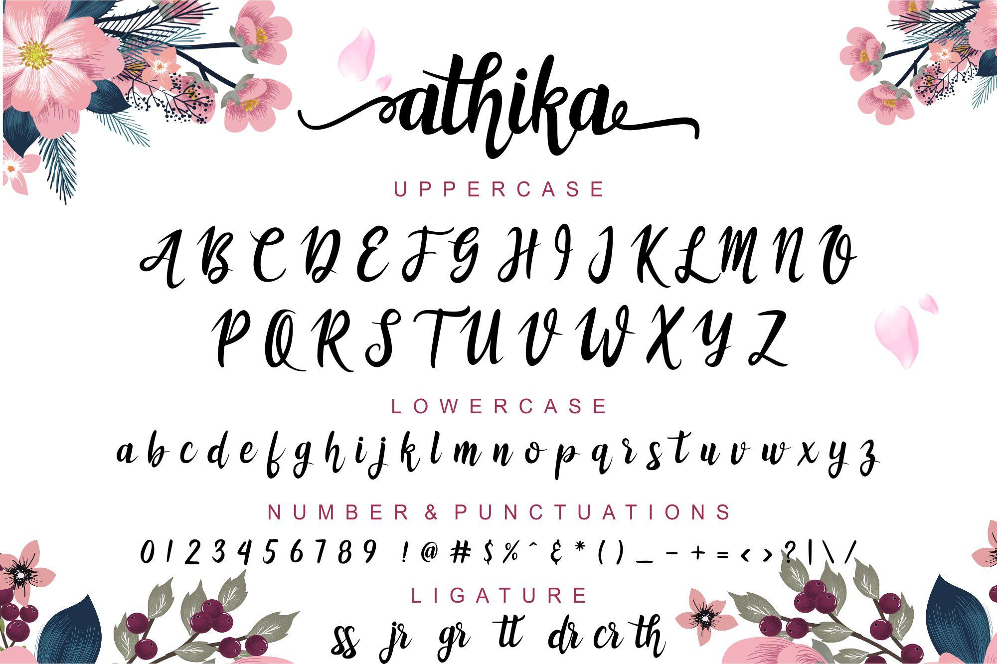 Athika Lovely Font example image 2