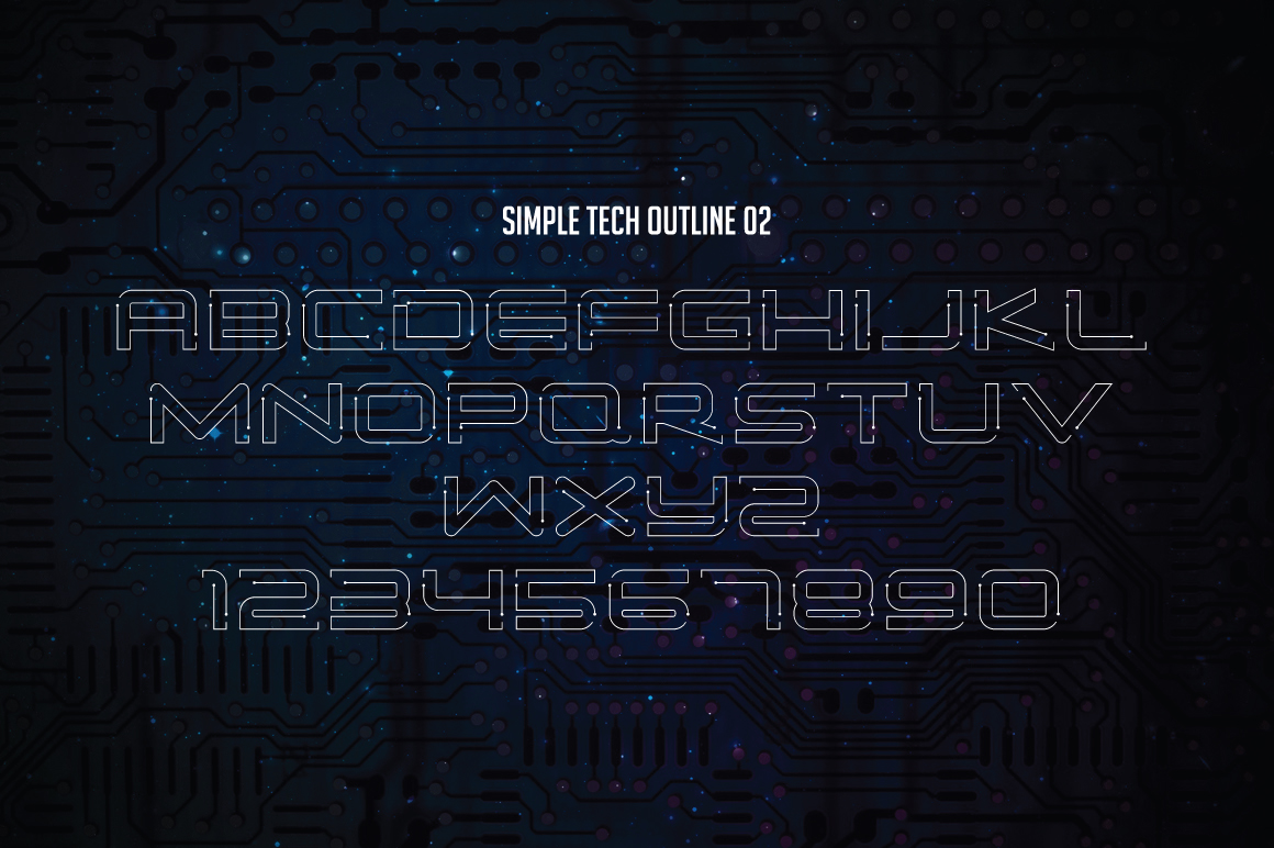Simple Tech Typeface - 5 Style example image 8