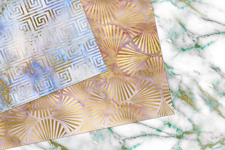 Marble Art Deco Digital Paper example image 5