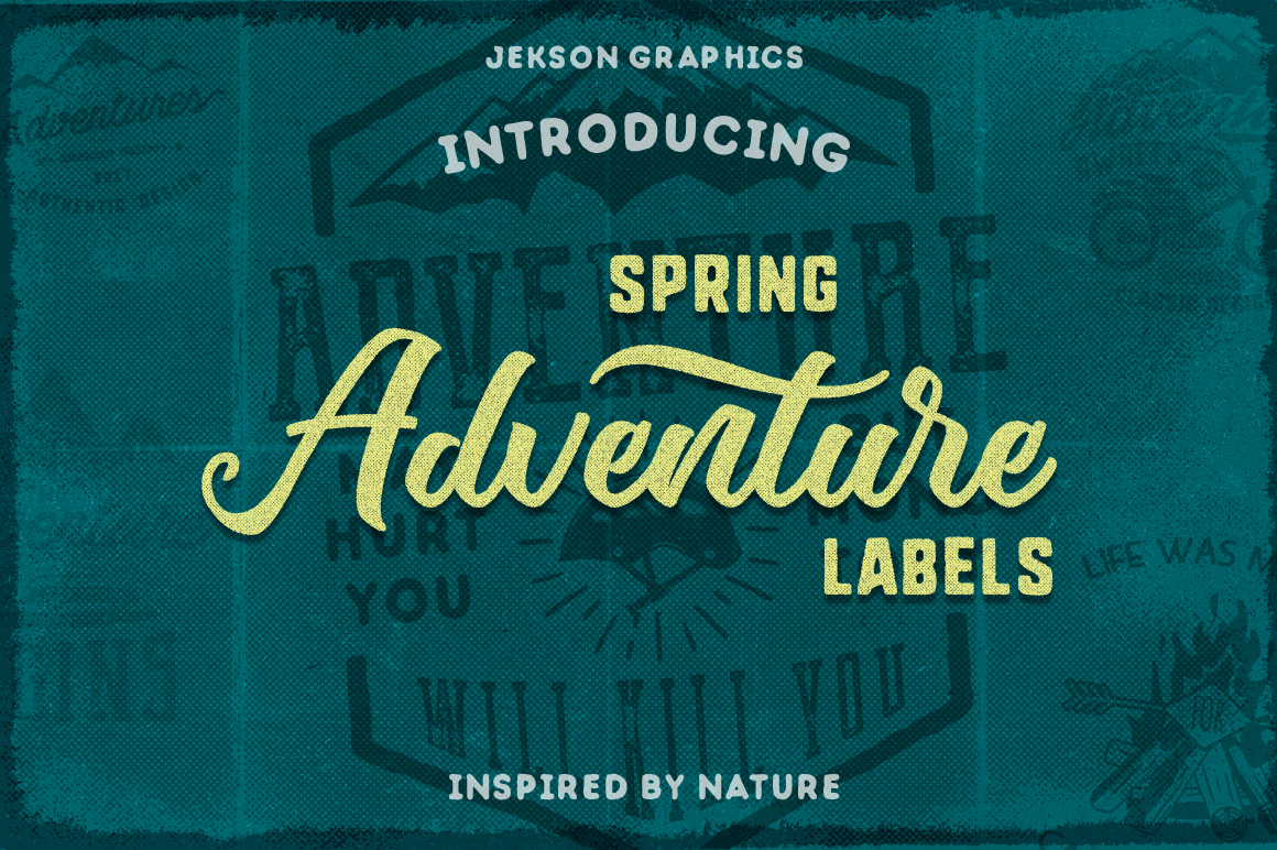 Spring Adventure Motivational Labels example image 1