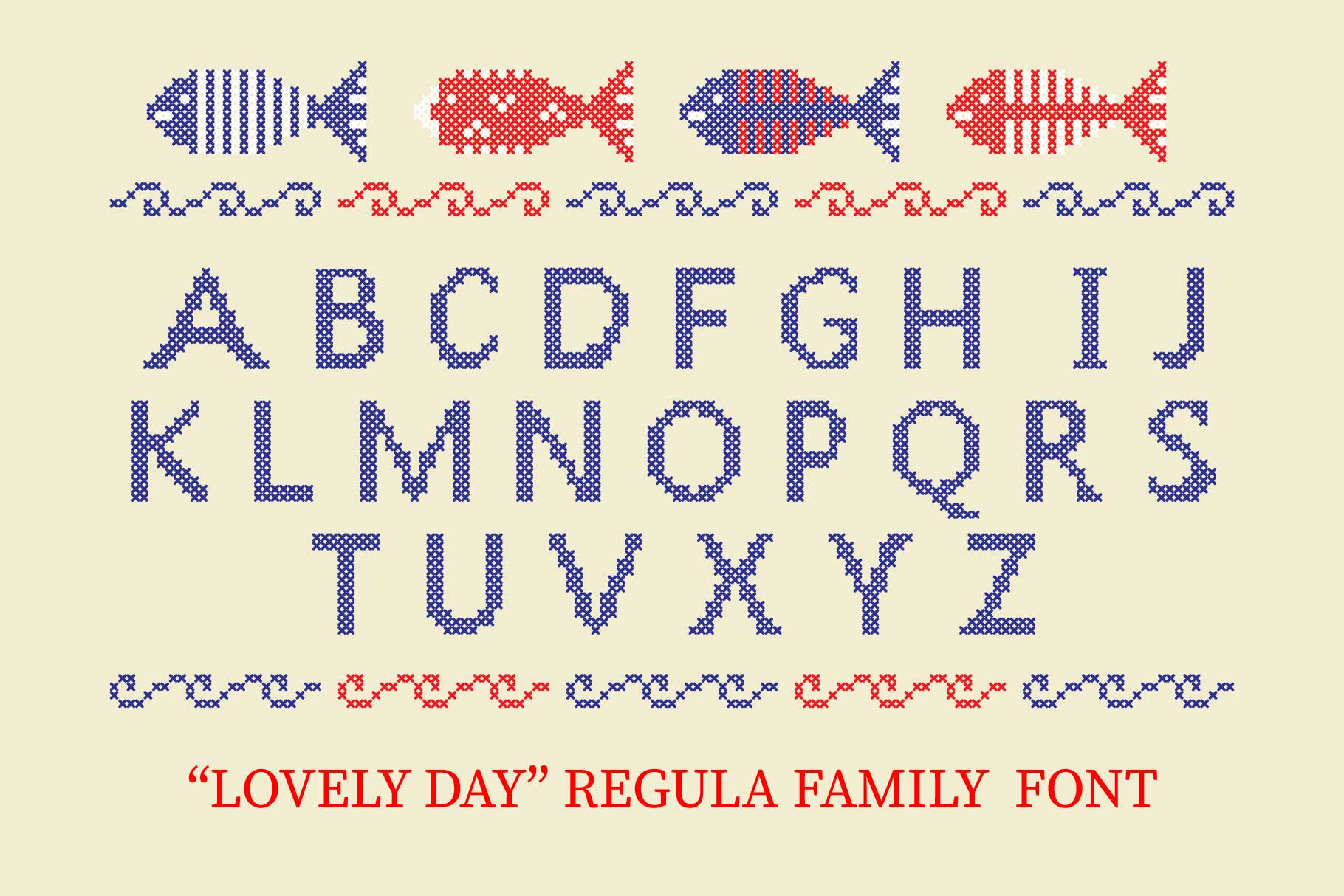LOVELY-DAY-COLOR-CROSSSTICH OTF-SVG  multicolor font example image 3