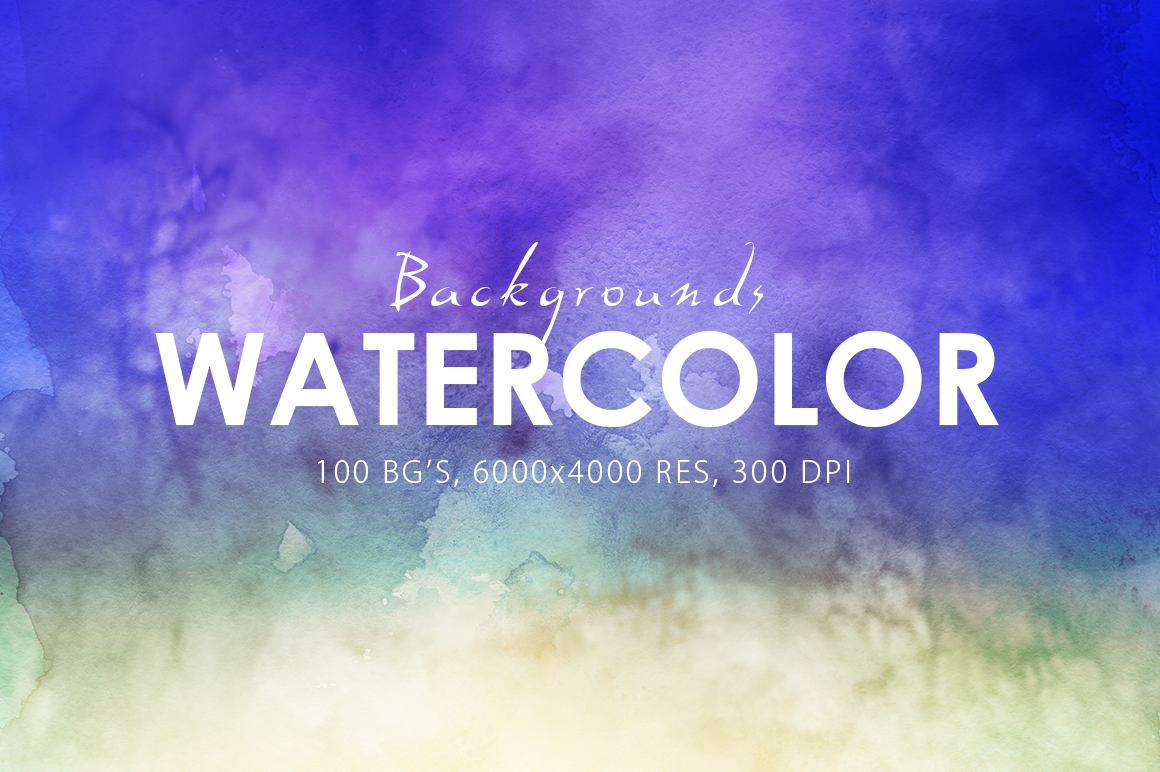100 Watercolor Backgrounds Vol.1 example image 4