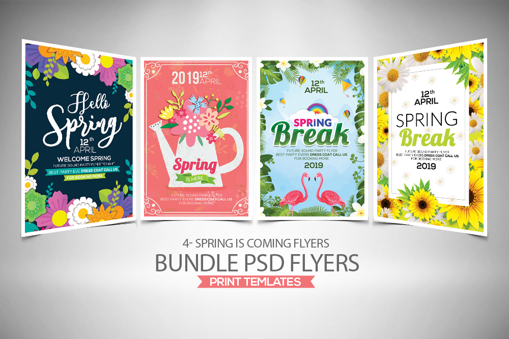 4 Spring Festival Flyers Bundle example image 1