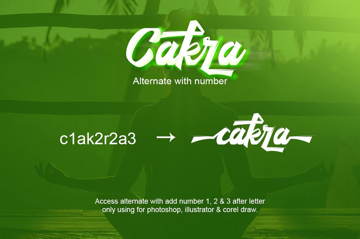 Cakra Script example image 6