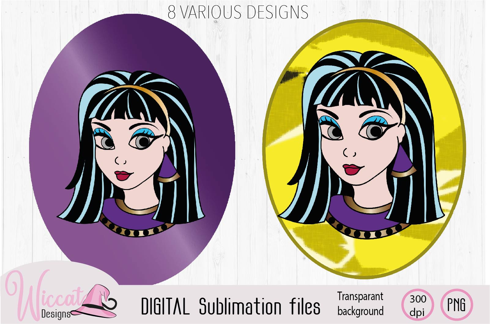 Cleopatra Girl face sublimation example image 4
