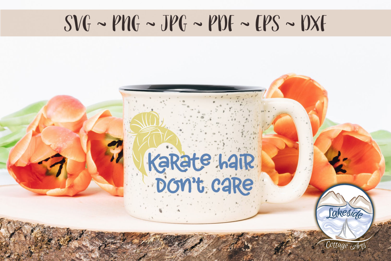 Karate Hair Don't Care 2- Martial Arts SVG example image 3