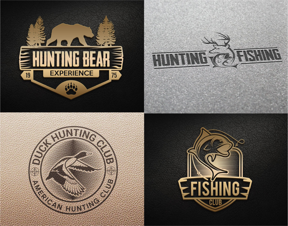 Hunting Vintage Badges and Logos example image 5