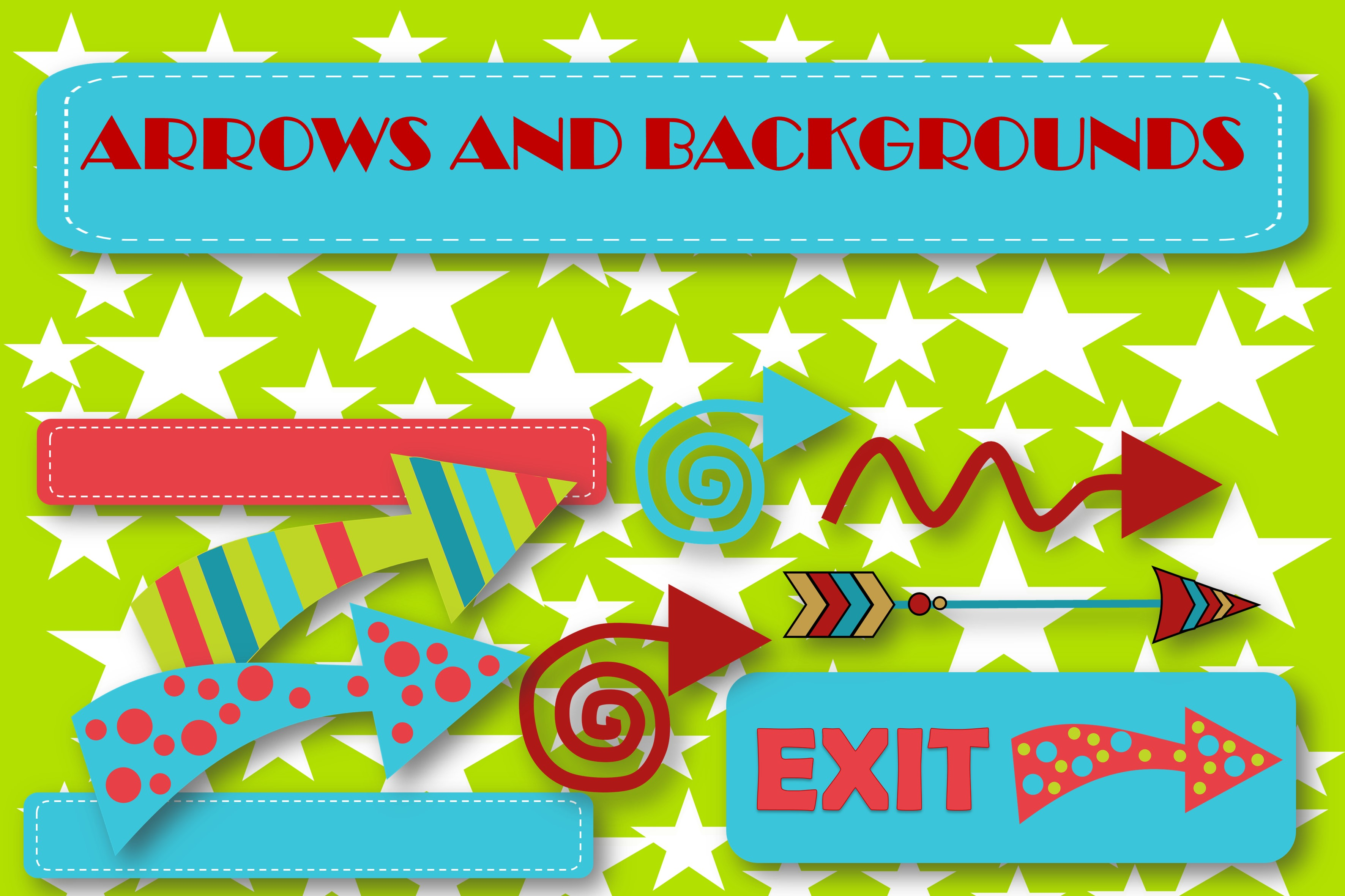 Arrow Graphics and Backgrounds  example image 1