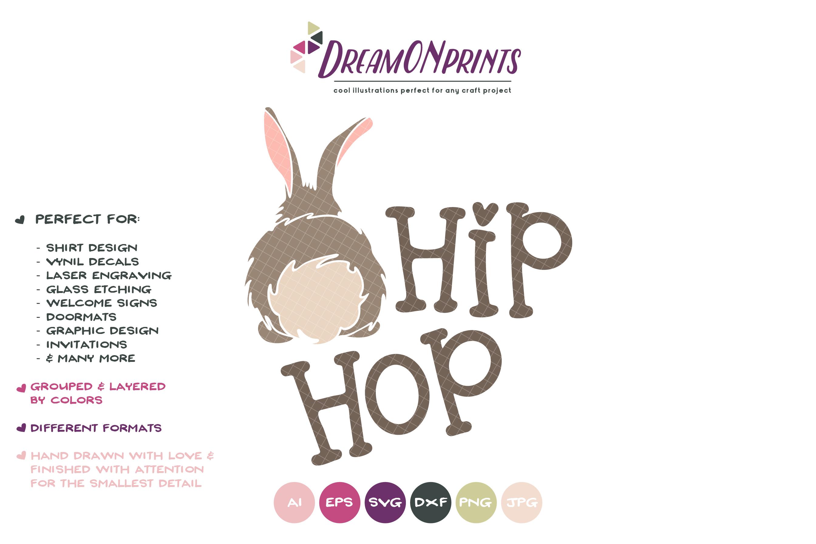 Easter SVG - Easter Bunny SVG Hip Hop example image 2