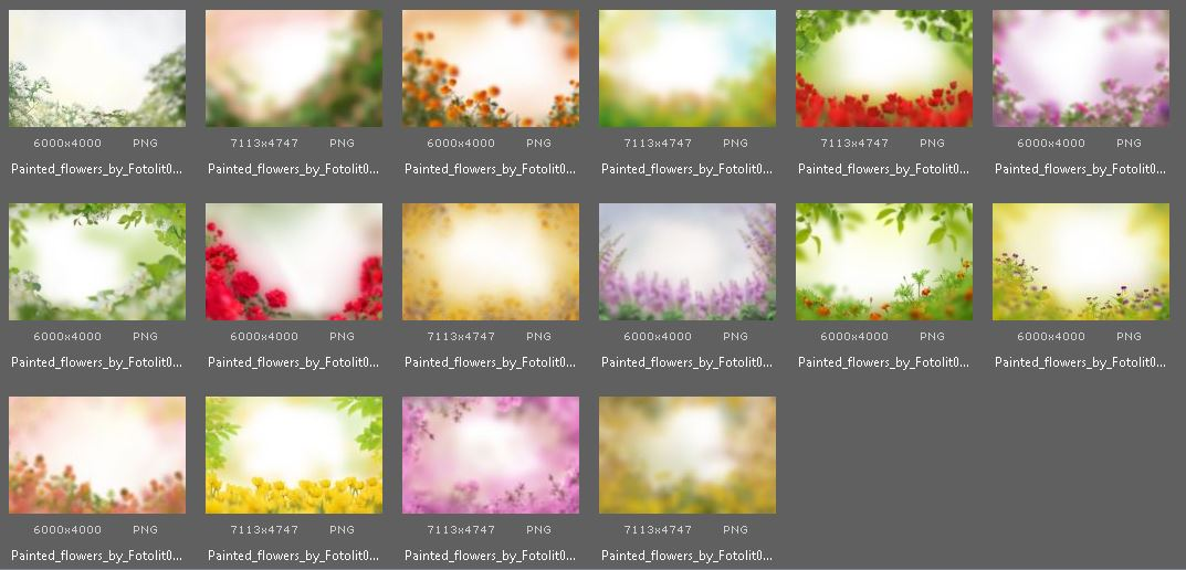40 Painted Flowers Photo Overlays example image 5