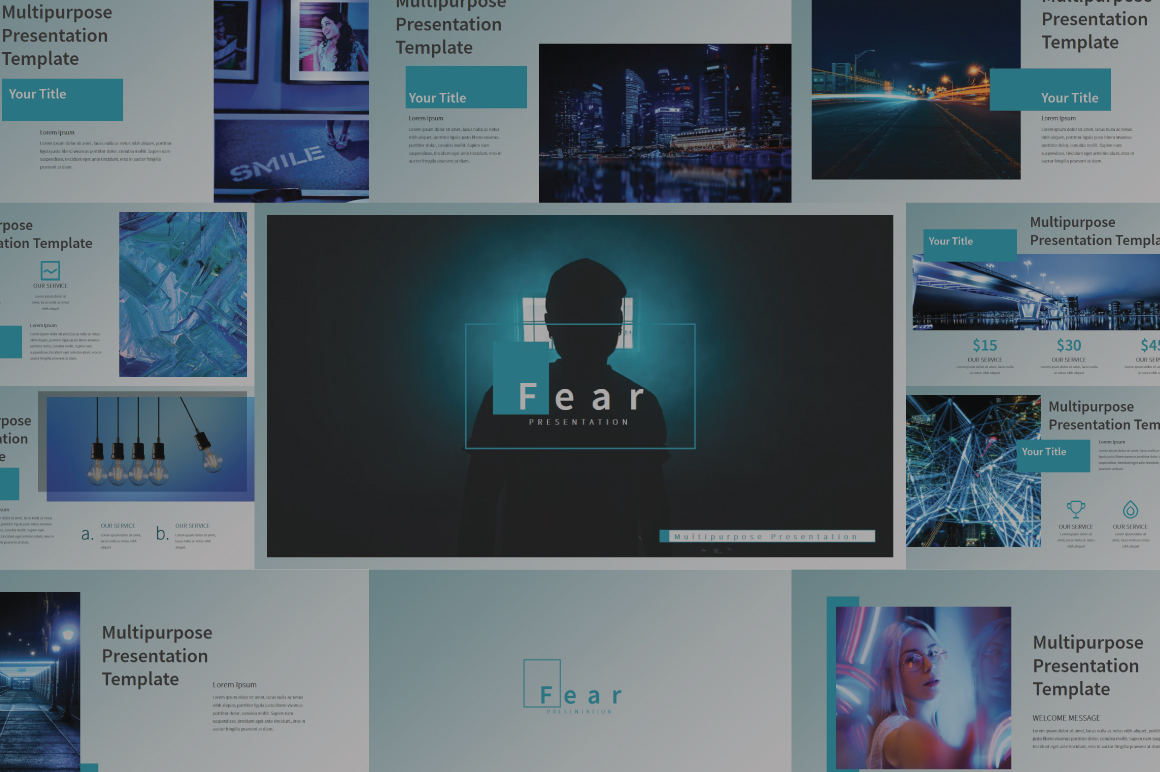 Fear Powerpoint Template example image 1