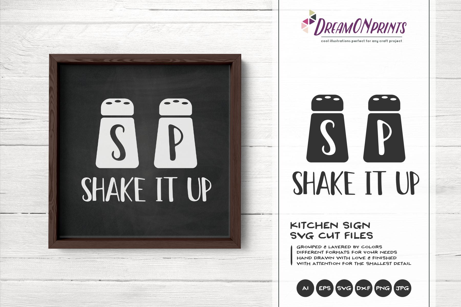 Shake it Up SVG - Salt and Pepper SVG - Kitchen SVG example image 1