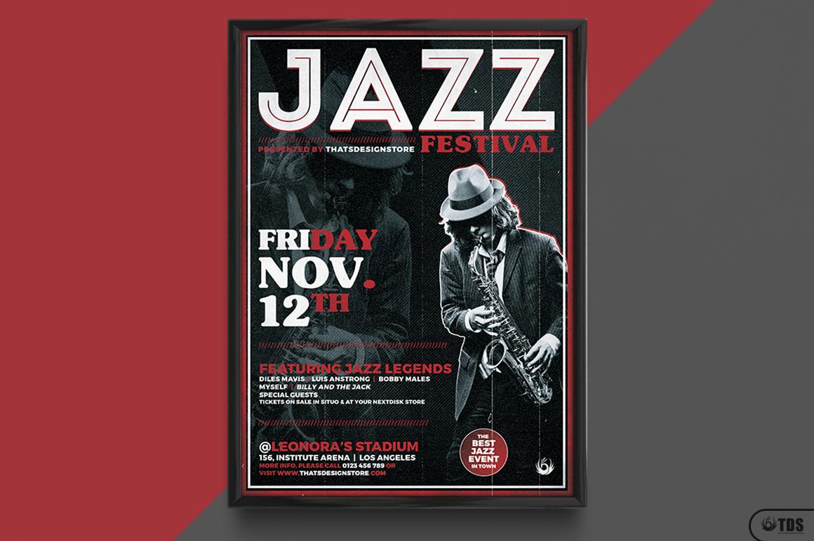 Jazz Festival Flyer Template V3 example image 6