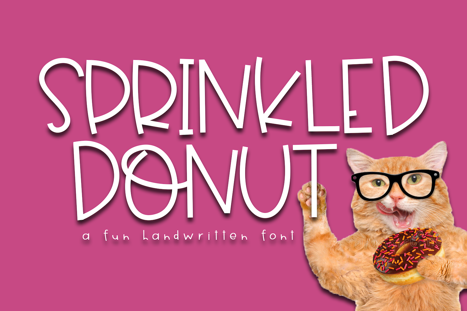 Sprinkled Donut - A Handwritten Font example image 1