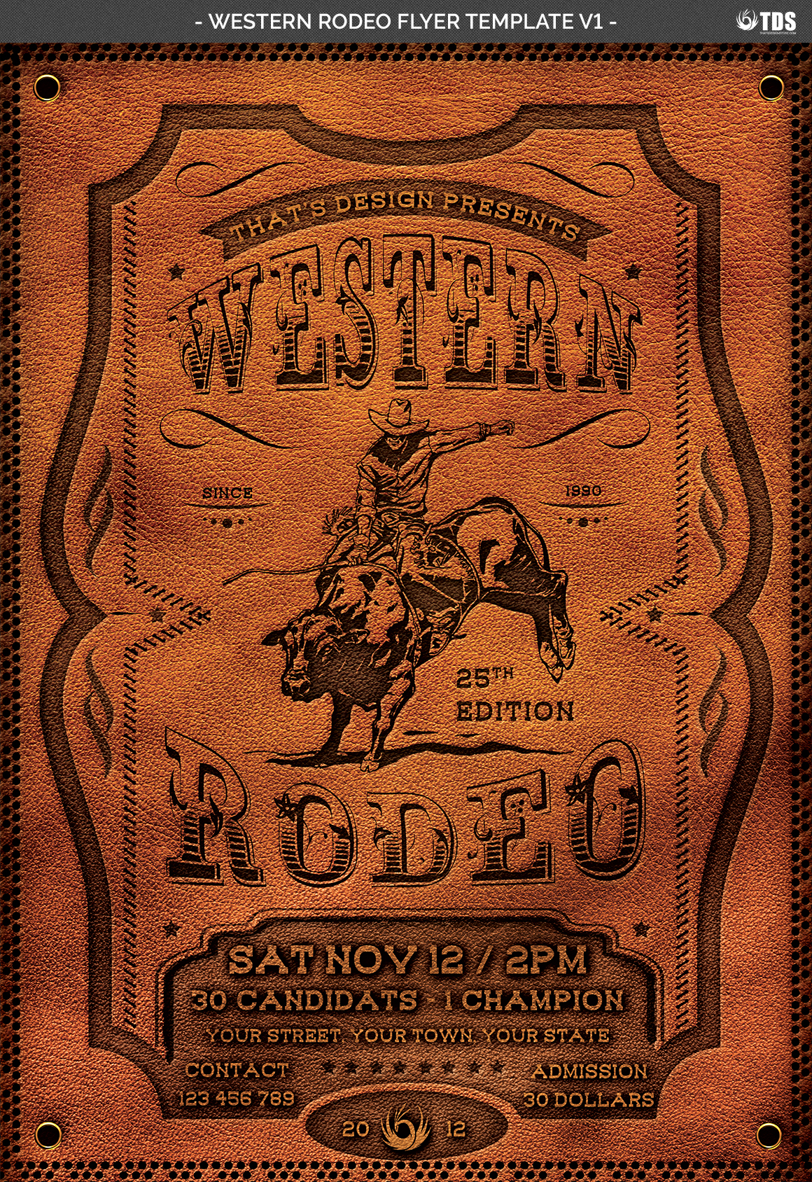 Western Rodeo Flyer Template V1 example image 4