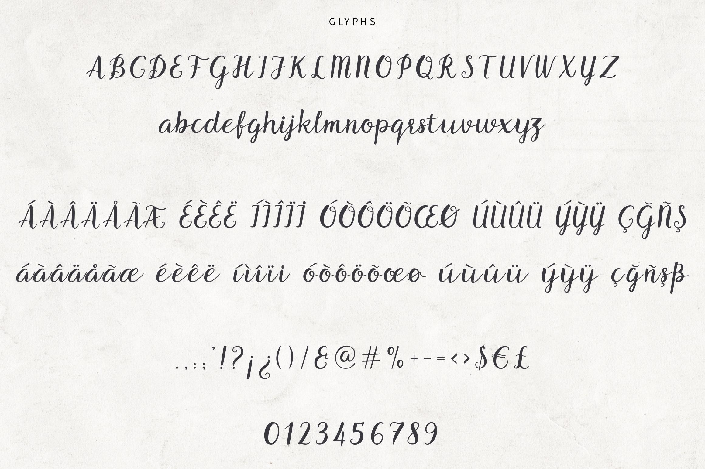 Benedicte Script example image 5