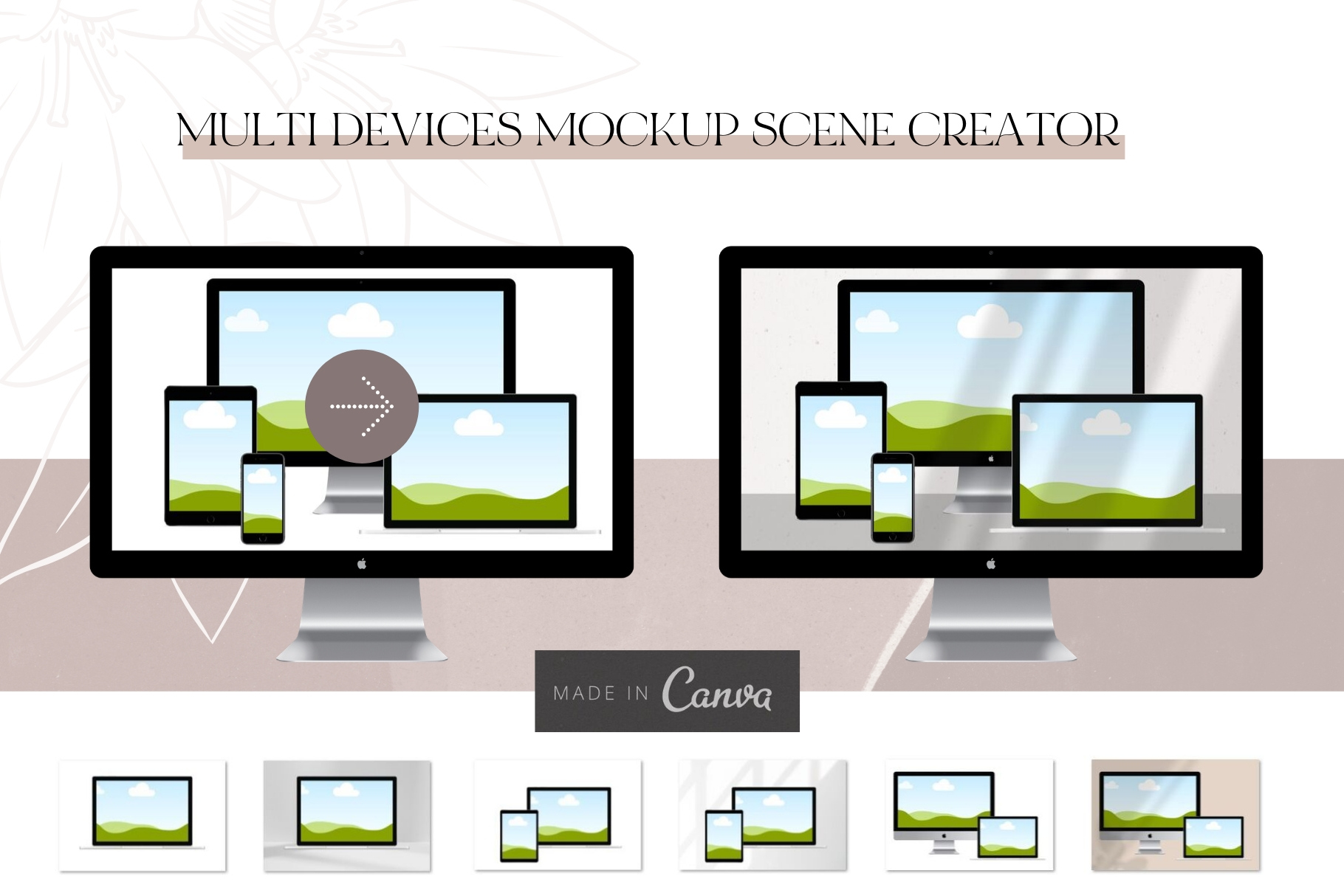 Canva Devices Mockup Scene Creator example image 4