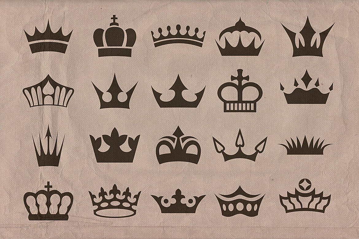 Retro/Vintage shapes - Crowns 2 example image 3