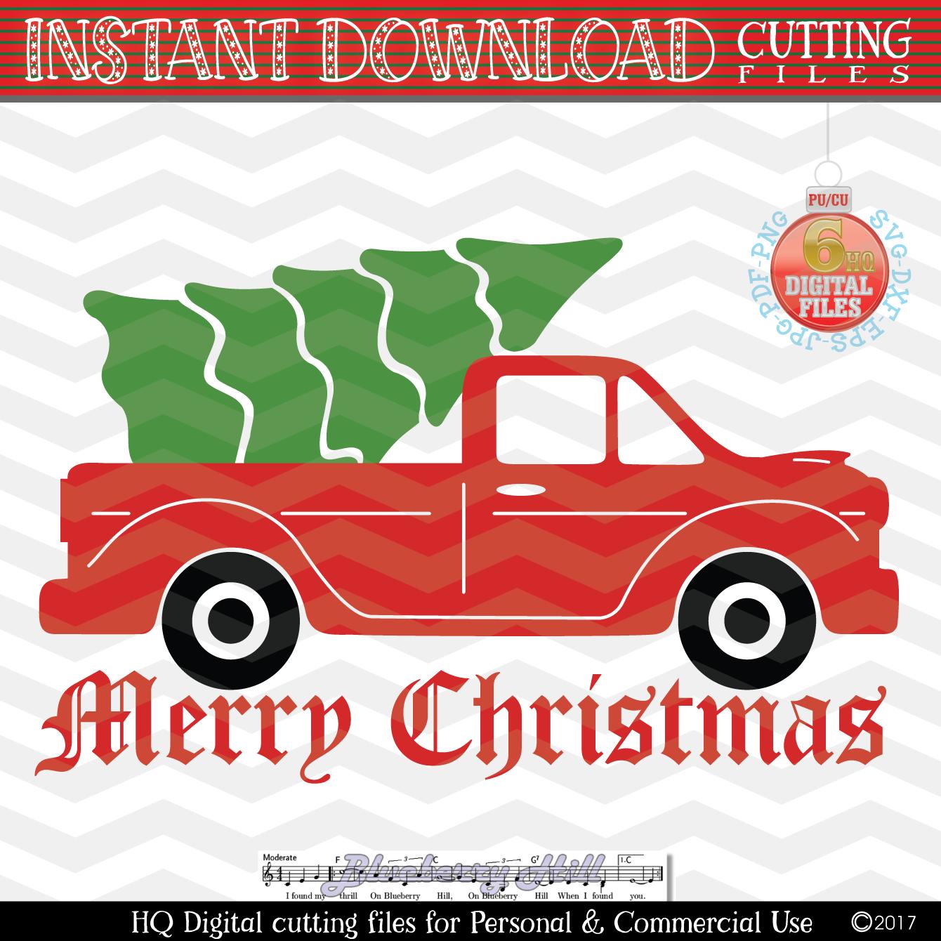 Christmas Tree Truck Svg Free.Christmas Truck Christmas Truck With Tree Svg Christmas