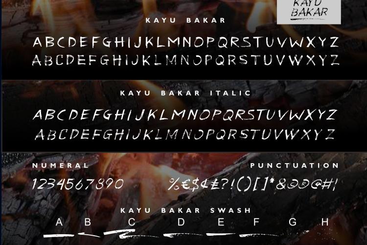 KAYU BAKAR Brush Font example image 7