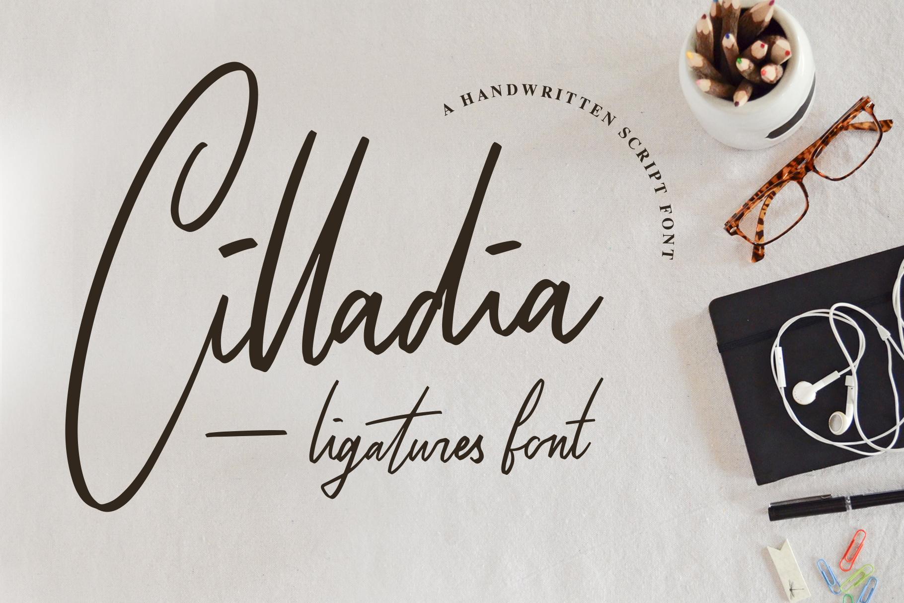 Cilladia - Ligatures Font example image 1