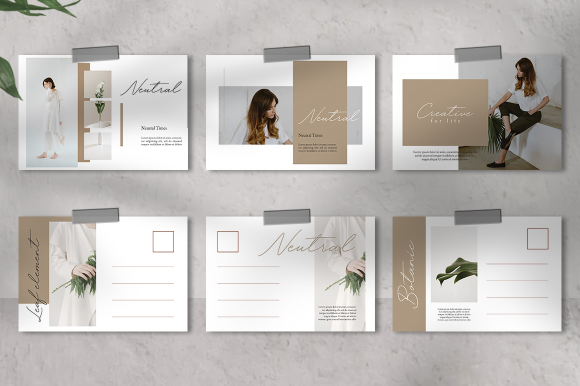 Neutral Postcard Templates example image 4