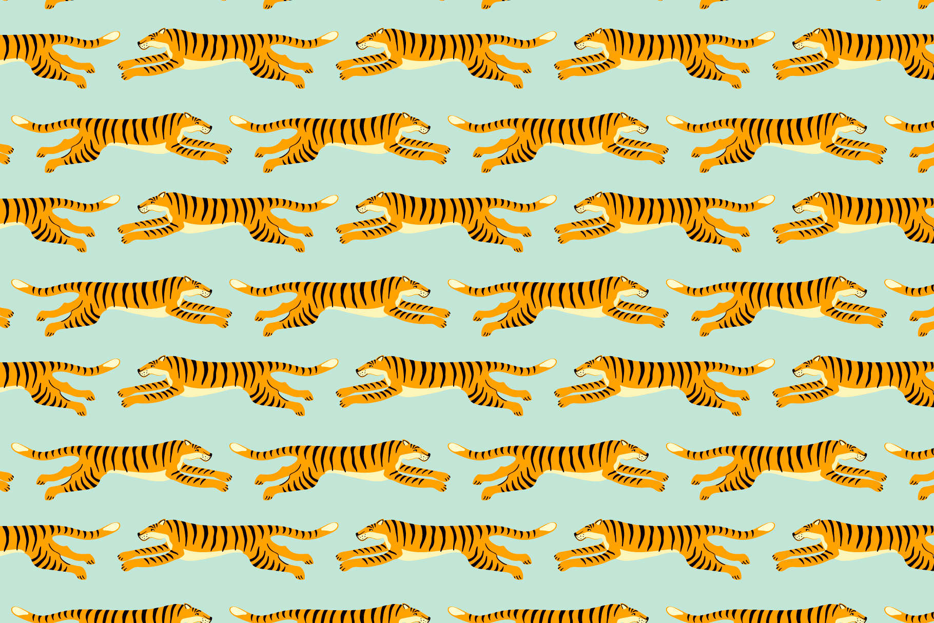 Tiger collection. Patterns & clipart example image 6