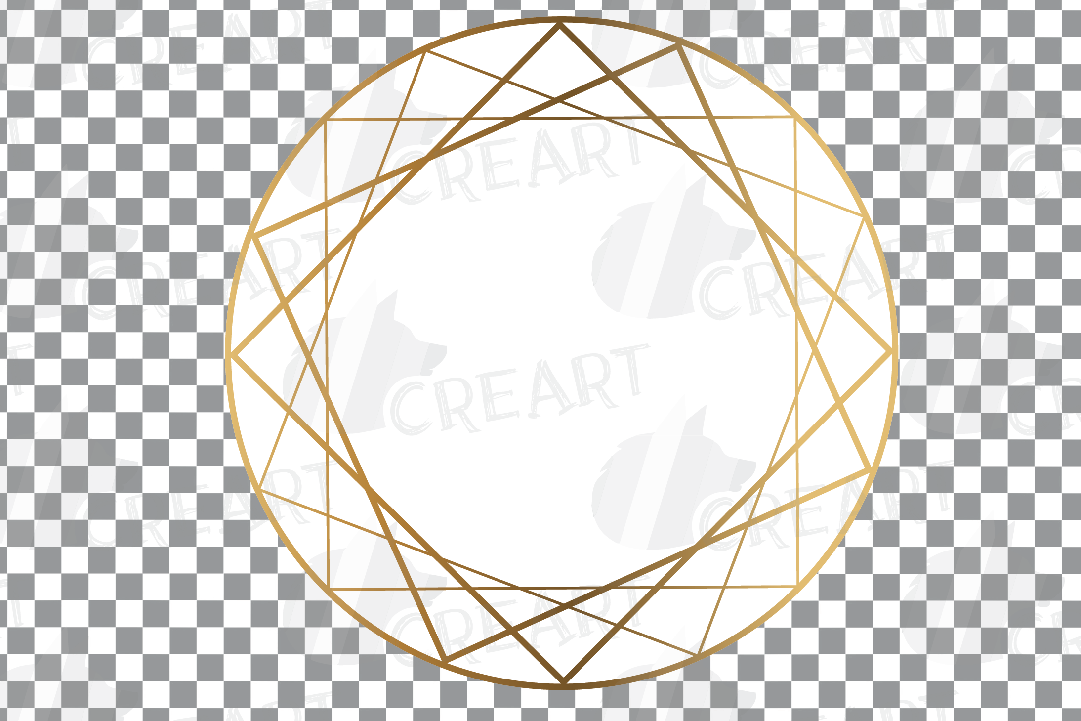 Elegant wedding geometric golden frames, lineal frames svg example image 14