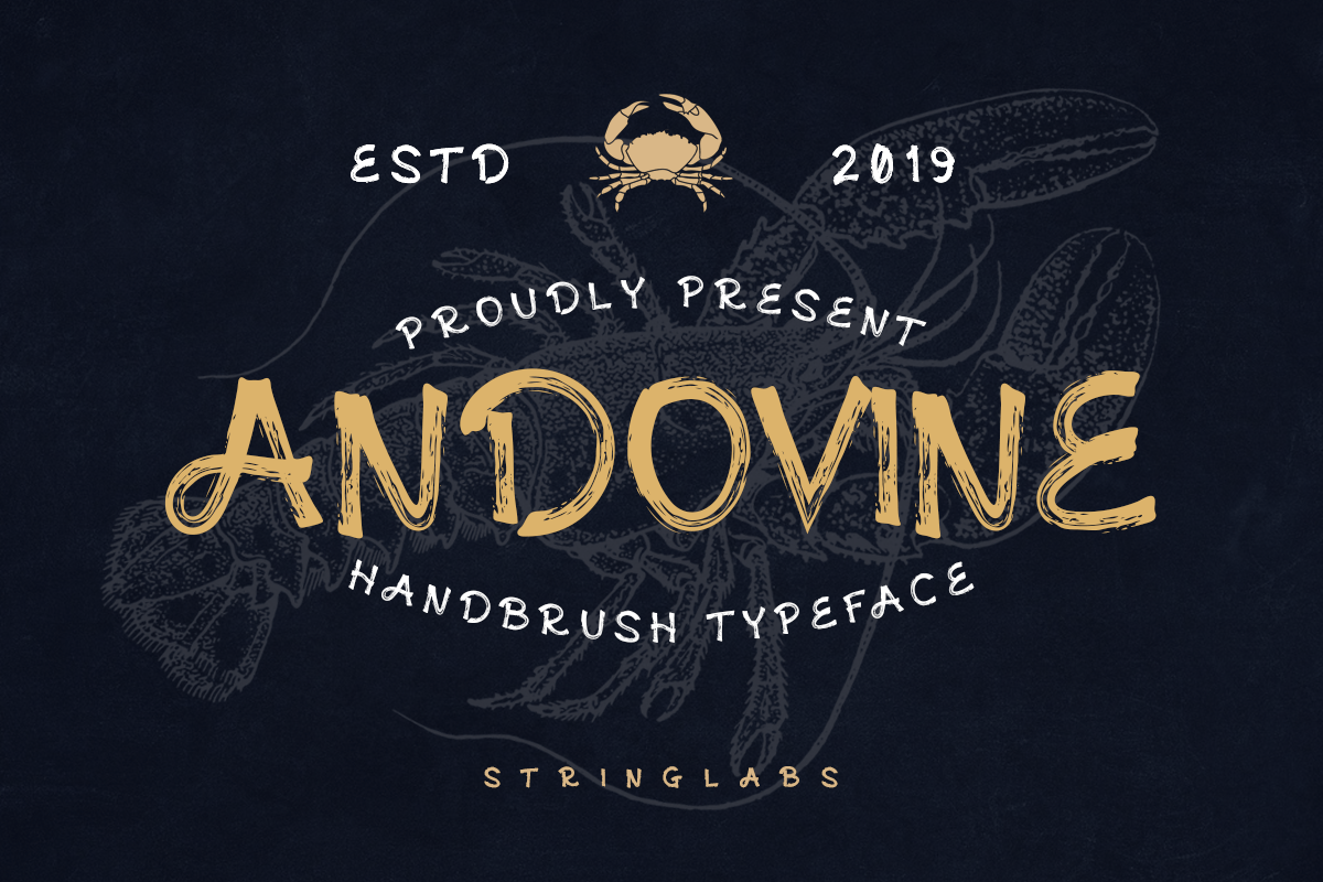 Andovine - Handbrush Typeface example image 1