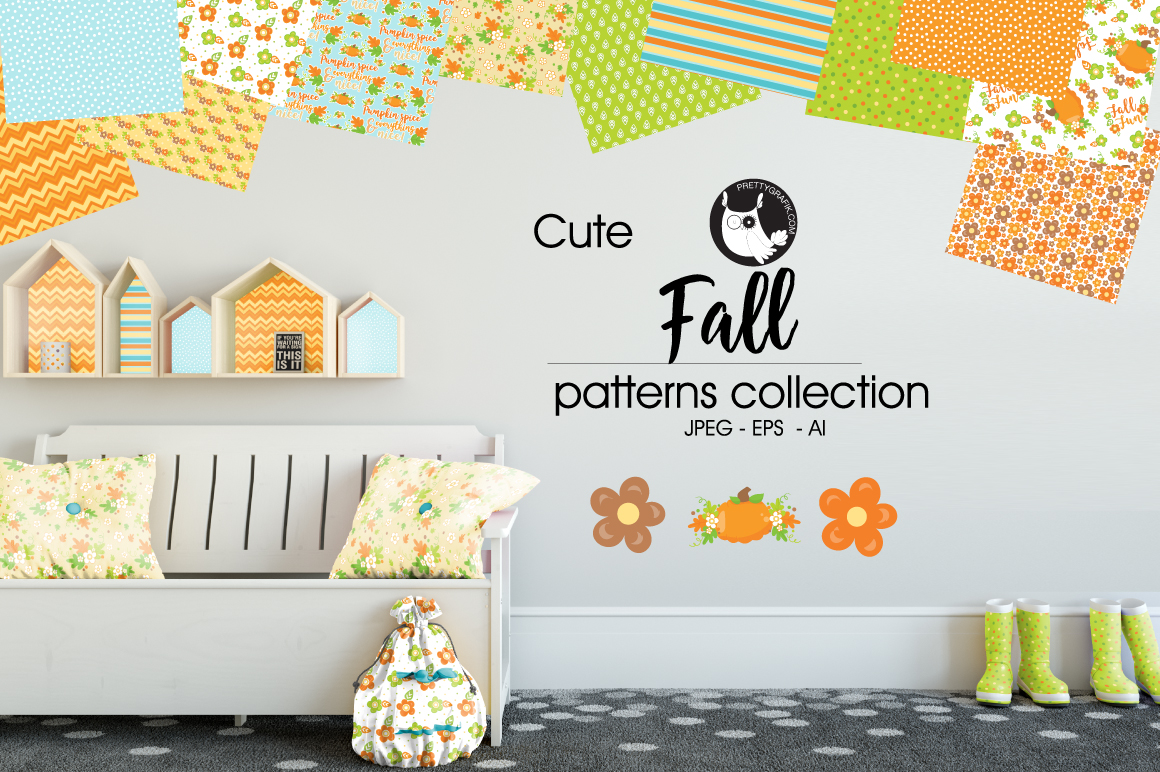 FALL , digital papers example image 1