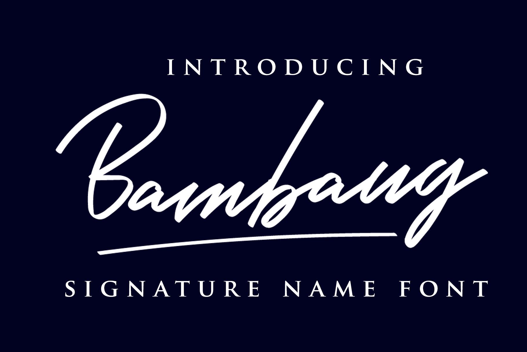 Bambang - Signature Font example image 5