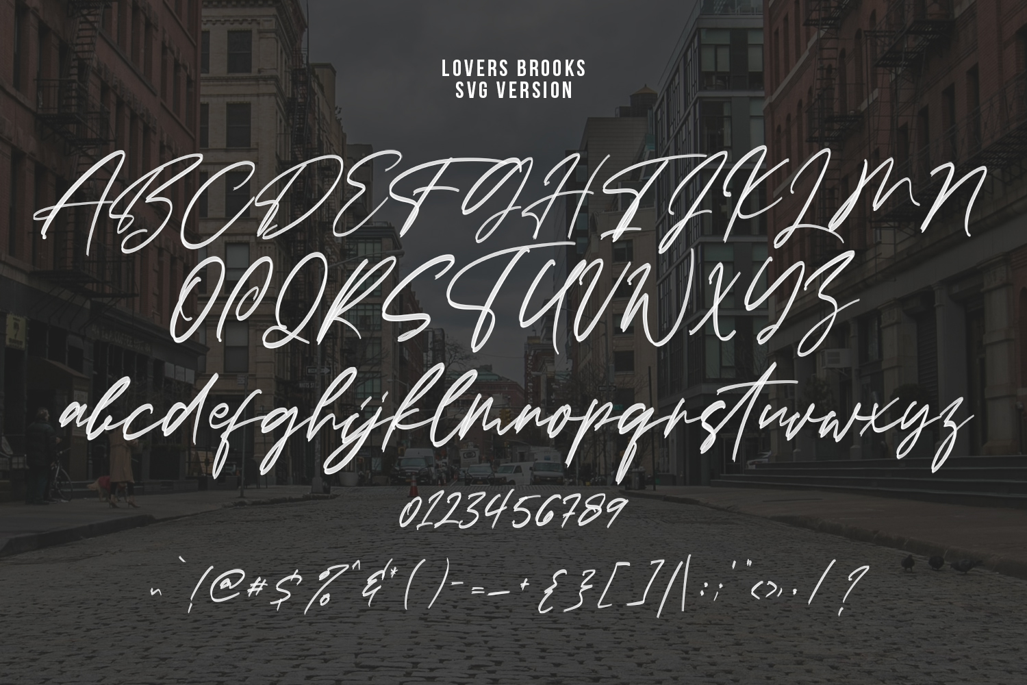 Lovers Brooks SVG Brush Font Sans example image 10