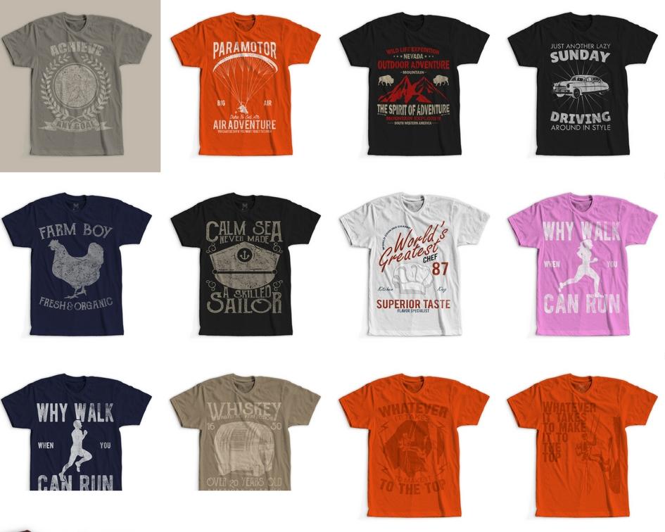 935d20cb4 100 Retro Vintage T-Shirt Designs example image 2
