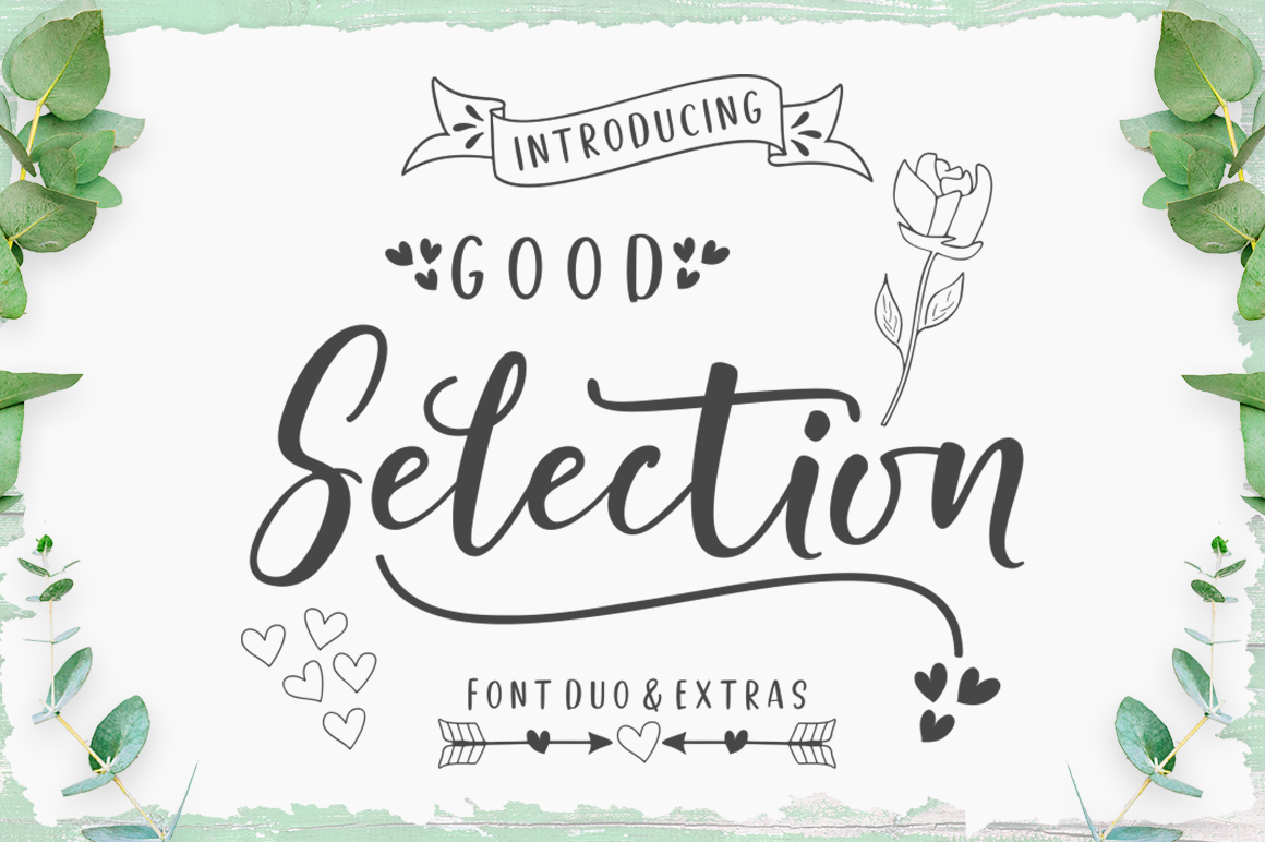 Good Selection Font Duo & Extras example image 1
